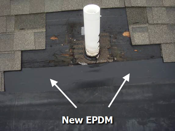 New EPDM installed