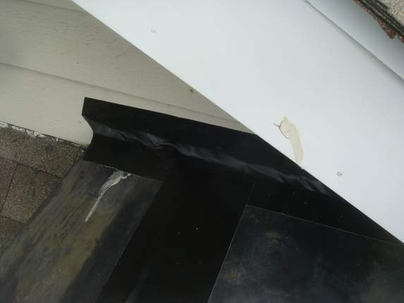 Wall flashing and joint seal