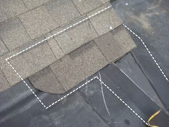 Roof shingle and EPDM joint integration
