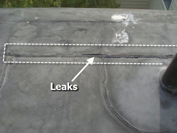 Seam leaks from improper joint sealing