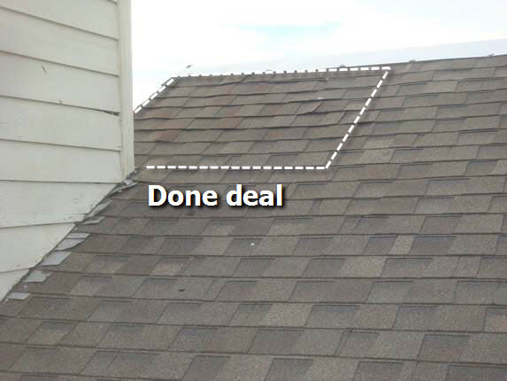 Architectural shingles repaired