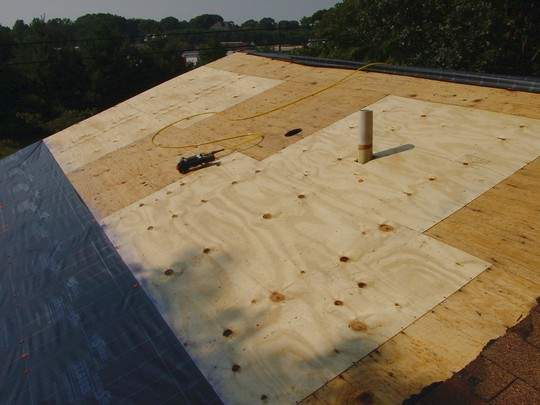 replace roof plywood