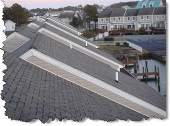 Maryland townhouse roof