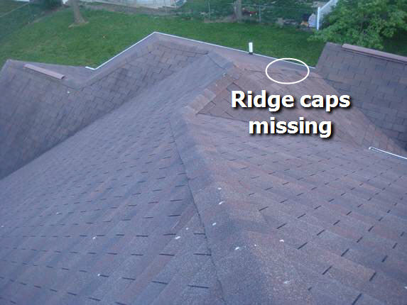 Replace missing ridge caps
