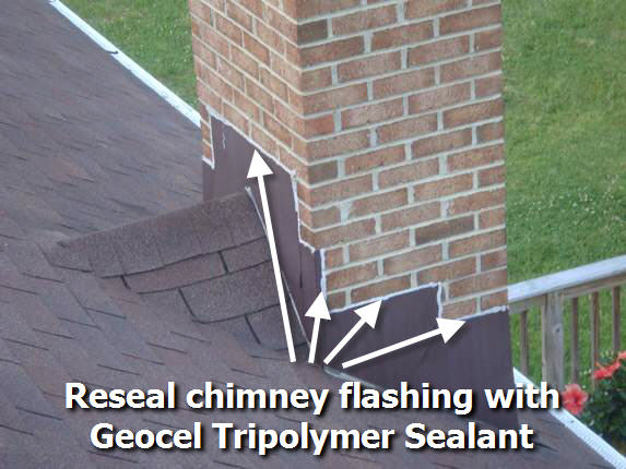 Reseal chimney with Geocel Tripolymer Sealant