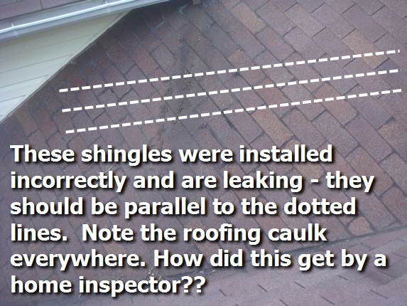 Shingles installed wrong