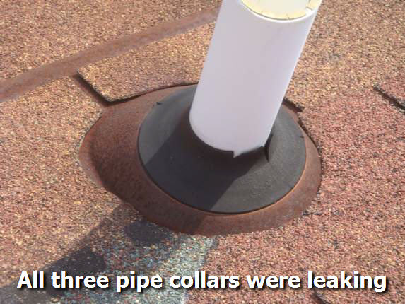 Leaky pipe collar