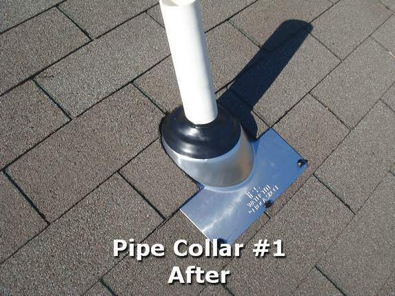 Pipe collar #1 installed
